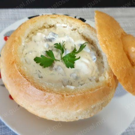 Supa crema cu piept de pui si ciuperci